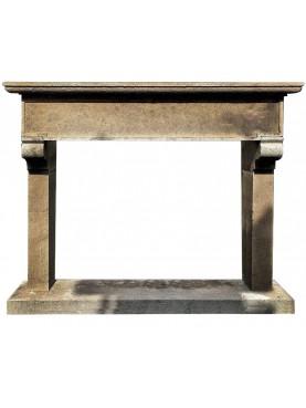 Simple Fireplace in Peperino Stone
