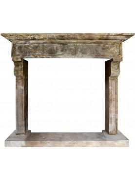 Perigord limestone fireplace