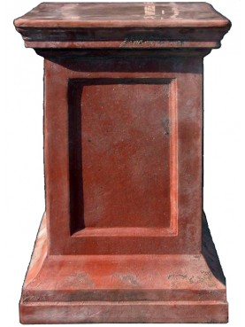 Terracotta square base H.60cms/37x37cms for vases and sculptures