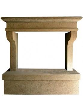 Limestone fireplace - Castiglion del Bosco Montalcino