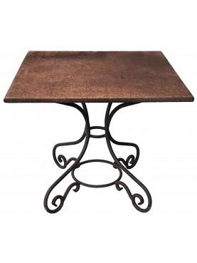Tavolini quadrati francesi con gambe a ricciolo