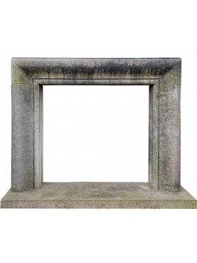 Salvator Rosa fireplace in pietra serena stone