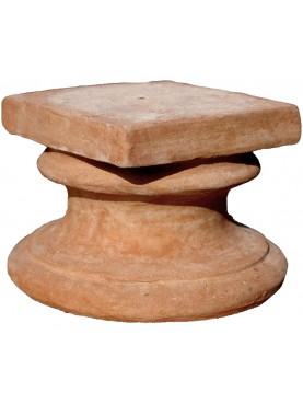 Terracota base H.18cms/19,5x19,5cms for heads or small sculptures