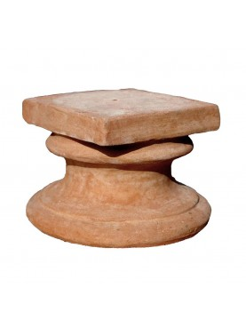 Base in terracotta H.13cm/14,5x14,5cm per teste o piccole sculture