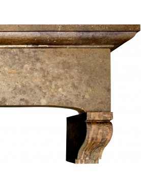 Eleonora fireplace in limestone - farmhouse chimney hood