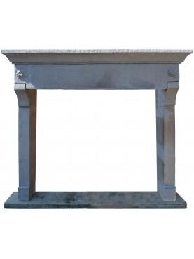 Tuscany sand stone fireplace