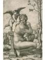 Venere accovacciata incisa da Marcantonio Raimondi, 1505-06 copiando l'originale romano