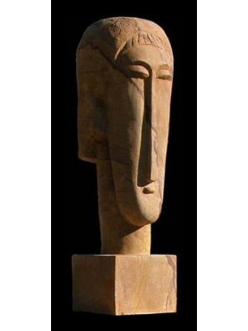 Amedeo Modigliani head reproduction
