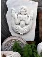 Bassorilievo in marmo statuario di Sirena Bicauda