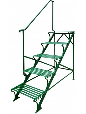 Wrought iron garden scale flowerpot stand