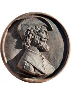 Tiziano Vecellio terracotta round tile