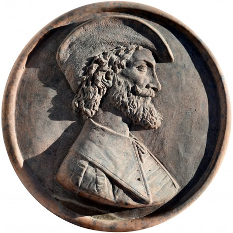Tondo di Tiziano Vecellio in terracotta
