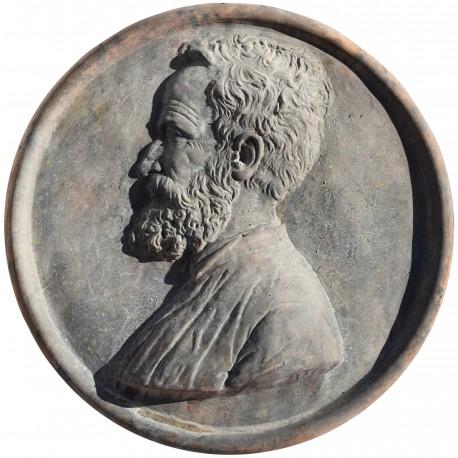 Michelangelo terracotta round tile