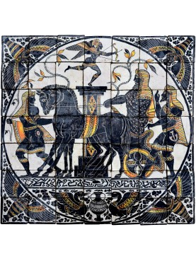 Tipico antico Pannello maiolicato siciliano