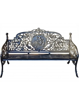 Large Cast Iron Bench with Venus Medallion - Coalbrookdale Company