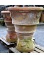 Coppia di vecchie conche da limoni toscane in terracotta