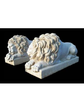Two copies of Canova lions