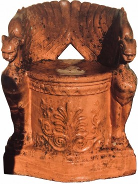 Antique copy of the extremely rare seat of the Signa Manifattura in terracotta