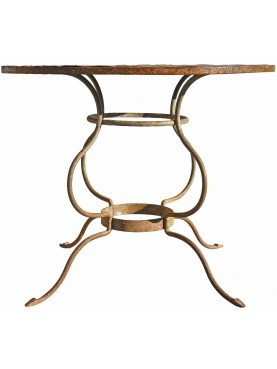 Ancient round iron table