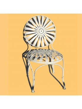 Forged Iron French armchair - spring seat