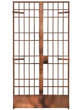 cancello in ferro battuto a 2 ante proveniente dalla demolizione di un carcere (1)