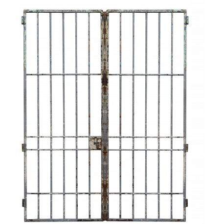 cancello in ferro battuto a 2 ante proveniente dalla demolizione di un carcere (4)