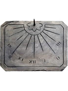 Octagonal sundial ligurian slate