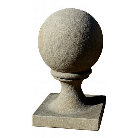 Sfera Ø 35 cm con base 37x37 cm pietraserena