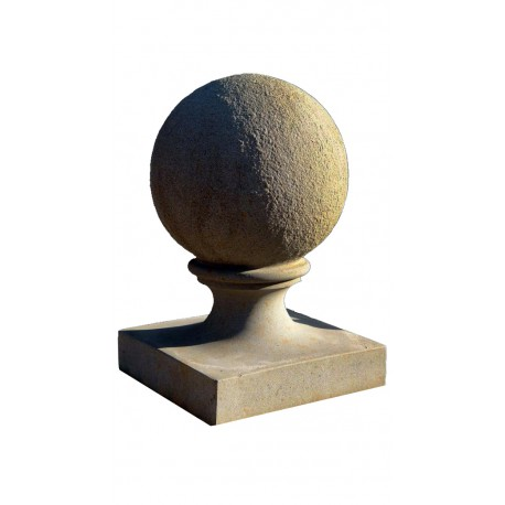 SPHERE Ø25 cm WITH BASE - MONOBLOCK - brown stone