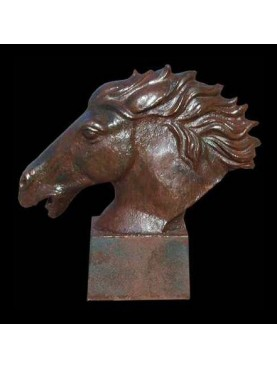 Horse head in the wind