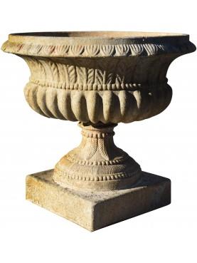 Calice Piemontese in terracotta dell'Impruneta baccellato