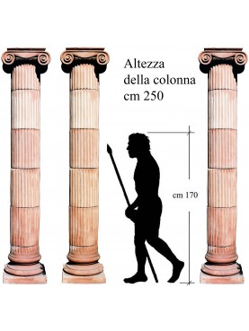 Terracotta columns cylindrical with two capitals