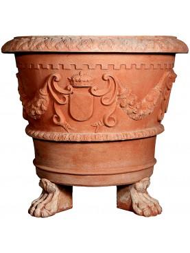 Vaso Senese antico repro Ø 93 cm piedi inclusi