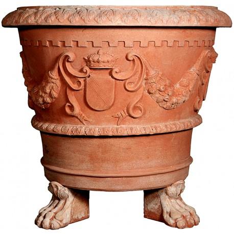 Antique Siena vase repro Ø 93 cm feet included