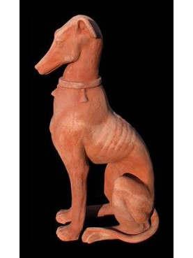 Levriero in terracotta