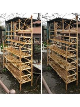 Etagere in ferro battuto portavasi per giardino e serre
