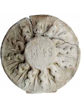 IHS in pietra arenaria grigia antico