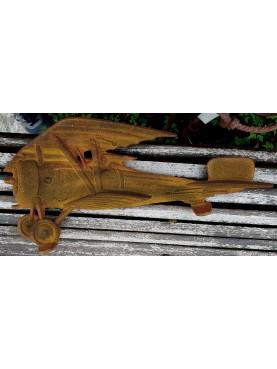 Piccolo modellino di aeroplano in ghisa dei primi anni del secolo scorso