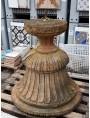 Antico grande vaso mediceo baccellato a CALICE in TERRACOTTA
