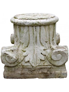 Corintian Stone capital with achantus leaves