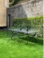 Rectangular forged iron table 245 cm