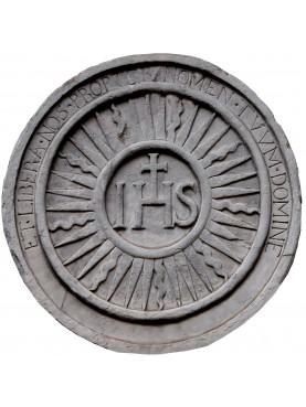 IHS in pietra serena rotondo