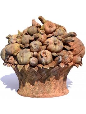 Trionfo di frutta Grande formato a mano in terracotta