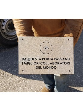 Identification stone plate for Castiglion del Bosco - Montalcino
