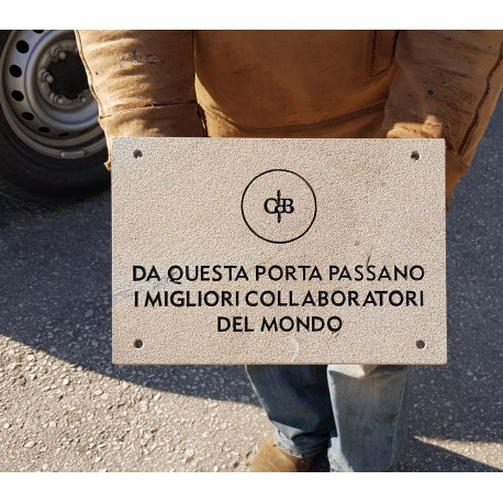 Identification stone plate for Castiglion del Bosco - Montalcino