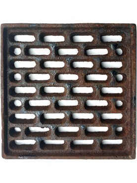 20x20cms Cast iron grate, air intakes and drains