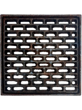 25x25cms Cast iron grate, air intakes and drains
