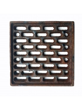 15x15cms Cast iron grate, air intakes and drains