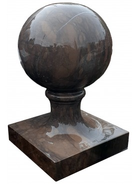 SPHERE Ø25 cm WITH BASE - MONOBLOCK - brown stone