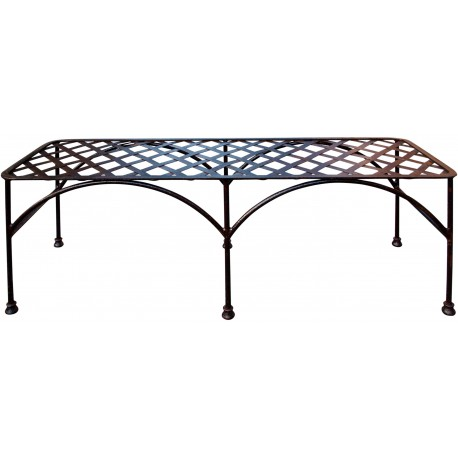 Settee wrought iron bench